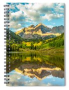 Reflection Of Maroon Bells Spiral Notebook