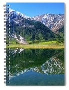 Reflection Of Mountains In Tern Lake Spiral Notebook
