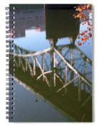 Reflection Of The Gay Street Bridge Spiral Notebook