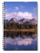 Reflection Of Trees And Clouds Spiral Notebook