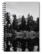 Reflection Of Trees And Mountains Spiral Notebook