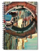 Reflection-venice Italy Spiral Notebook