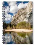 Reflections At Swinging Bridge Spiral Notebook