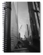 Reflections At The 9/11 Museum In Black And White Spiral Notebook