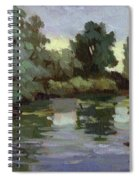 Reflections Duwamish River Spiral Notebook