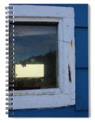 Reflections In A Shed Window - Curiosity - Fishing Spiral Notebook