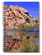 Reflections In Barker Dam By Diana Sainz Spiral Notebook