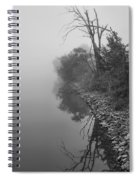 Reflections In Black And White Spiral Notebook