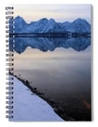 Reflections In Jackson Lake Spiral Notebook