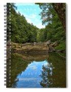 Reflections In Slippery Rock Creek Spiral Notebook