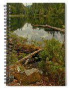 Reflections In Starvation Lake Spiral Notebook