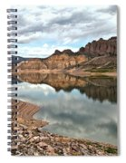 Reflections In The Blue Mesa Spiral Notebook
