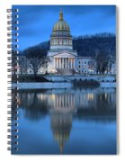 Reflections In The Kanawha River Spiral Notebook