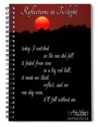 Reflections In Twilight Spiral Notebook