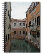 Reflections In Venetian Canal Spiral Notebook