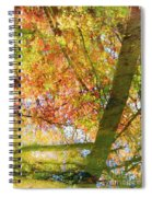 Reflections Of A Colorful Fall 001 Spiral Notebook