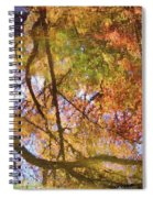 Reflections Of A Colorful Fall 002 Spiral Notebook