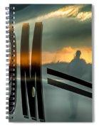 Reflections Of A Sunset Flight Spiral Notebook