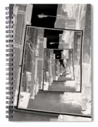 Reflections Of An Infrared Alley Spiral Notebook