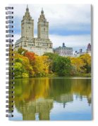 Reflections Of Autumn Central Park Lake  Spiral Notebook