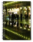 Reflections Of Saint Mark's Square-night Spiral Notebook