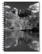 Reflections Of Sedona Black And White Spiral Notebook