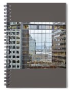 Reflections Of The Capitol Building In Denver Colorado Spiral Notebook
