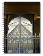 Reflections Of The Musee Du Louvre In Paris France Spiral Notebook