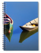 Reflections Of Two Canoes Spiral Notebook