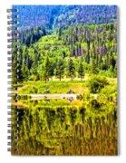 Reflections On A Summer Day - Vail - Colorado Spiral Notebook