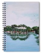Reflections On Lal Bagh Lake Spiral Notebook