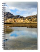 Reflections On Landmannalaugar Spiral Notebook