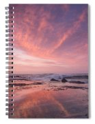 Reflections On North Jetty Dusk Spiral Notebook