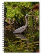 Reflective Great Blue Heron Spiral Notebook