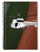 Reflective Helicopter Spiral Notebook