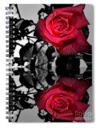 Reflective Red Rose Spiral Notebook