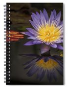 Reflective Water Lily Still Life Spiral Notebook