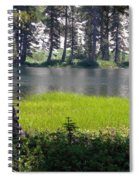 Refuge In The Mountains Spiral Notebook