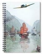 Refugees On The Yangtze Spiral Notebook
