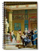 Rehearsal Of The Fluteplayer And The Diomedes Wife In The Atrium Of The Pompeian House Of Prince Spiral Notebook