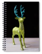 Reindeer Christmas Card Spiral Notebook