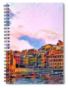 Relaxing Around Vernazza Spiral Notebook