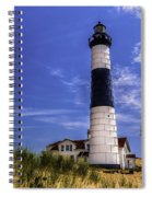 Relaxing By Big Sable Light Spiral Notebook