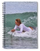 Relaxing In The Surf Spiral Notebook