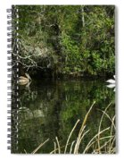 Relaxing On The River Spiral Notebook