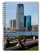 Relaxing Weekend On New York Harbor Spiral Notebook
