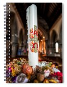 Religious Candle Spiral Notebook