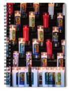 Religious Candles Spiral Notebook