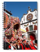 Religious Festival In Azores Spiral Notebook