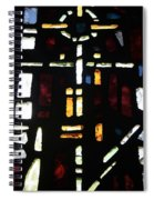 Religious Symbols In Glass Spiral Notebook